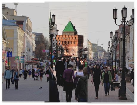 Прогулка по улице Большая Покровская, Нижний Новгород