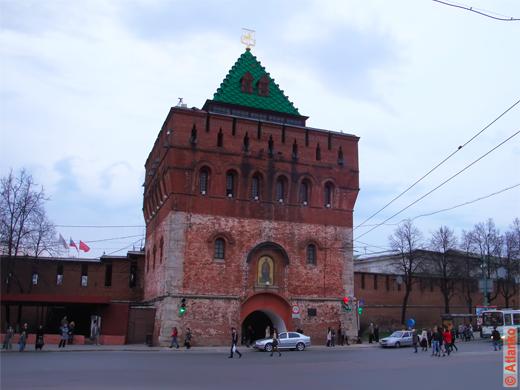 Дмитровская (Дмитриевская) башня Нижегородского Кремля. Достопримечательность Нижнего Новгорода