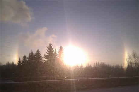 Солнечное гало в Нижнем Новгороде. 1 декабря 2010 года