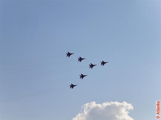 Показательные полёты на Международном авиационно-космическом салоне МАКС-2011