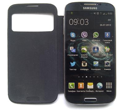 Смартфон Samsung Galaxy S4 с чехлом