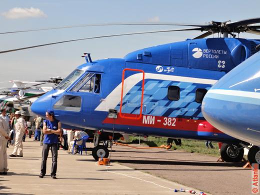Вертолёты на юбилейном 10-м Международном авиационно-космическом салоне МАКС-2011