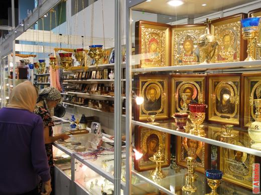 На 17-й Международной православной выставке-ярмарке Нижегородский край - Земля Серафима Саровского. Август 2011 года