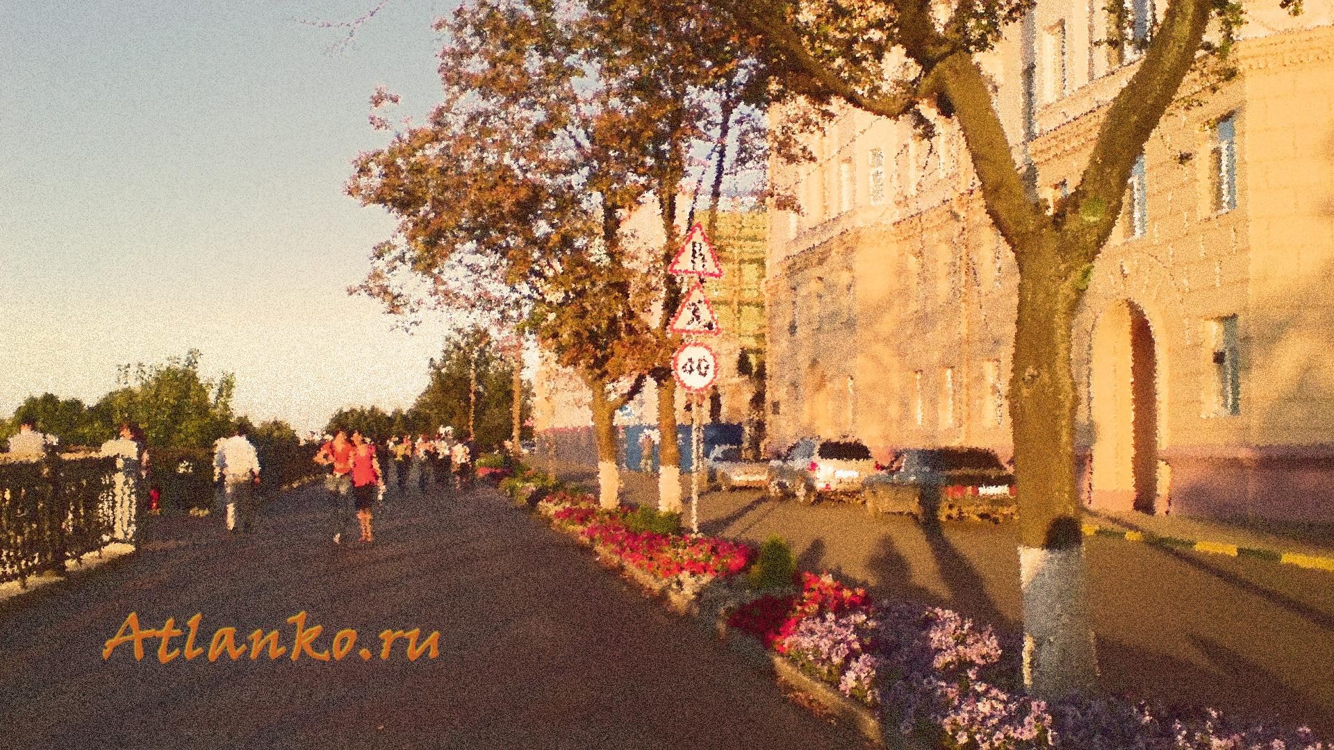 Верхне-Волжская набережная. Нижний Новгород. - Скачать широкоформатные обои на рабочий стол компьютера. 1920x1080; 2,18 МБ
