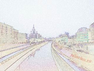 Река Яуза. Москва. Обои на рабочий стол компьютера от Atlanko.ru - актуальные открытия. Скачать