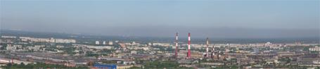 Панорама Автозаводского района города Нижнего Новгорода. Май 2010 года