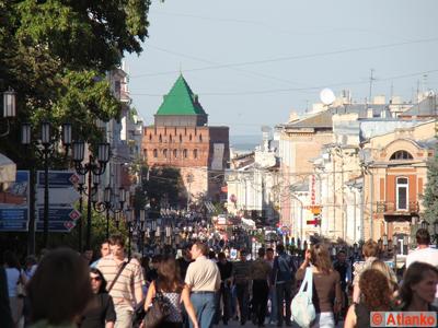 Большая Покровская - улица в Нижегородском районе. Нижний Новгород. Фотография
