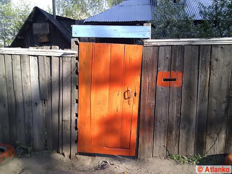 Красивая входная дверь в Нижнем Новгороде. Живая фотография