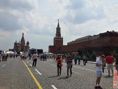 Красная площадь, панорама главной площади России. Москва. Фотография