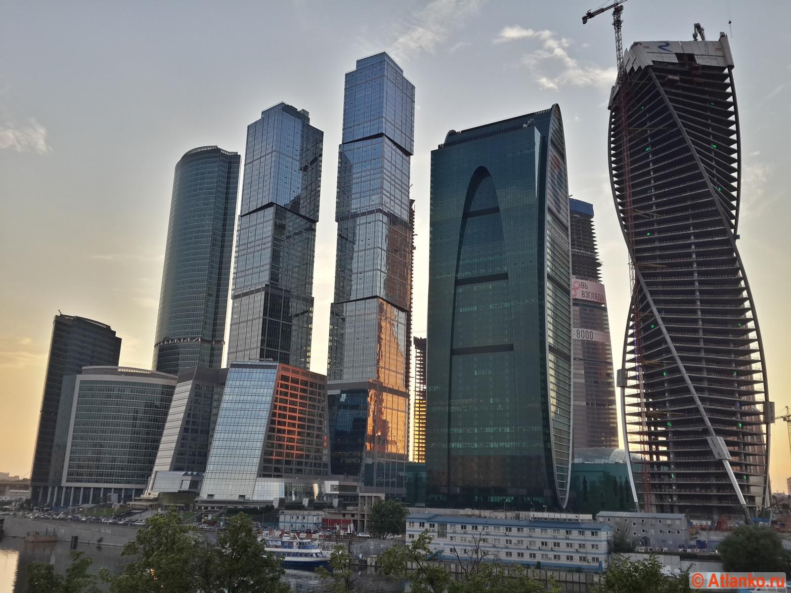 Московский международный деловой центр Москва-Сити в столице России. Москва. Фотография
