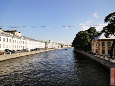 Набережная реки Фонтанки, Летний сад. Санкт-Петербург. Фотография