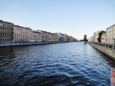 Набережная реки Фонтанки. Санкт-Петербург. Фотография
