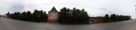Площадь Минина и Пожарского. Панорама. Нижний Новгород, 2010 год